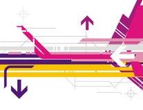 Serie de alta tecnología del fondo ilustración del vector