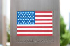Serie de banderas nacionales en el polo - los Estados Unidos de América Fotos de archivo