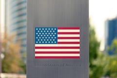 Serie de banderas nacionales en el polo - los Estados Unidos de América Imagen filtrada: efecto procesado cruz del vintage Fotos de archivo libres de regalías