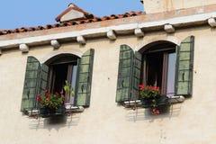 Serie de Bella Italia. Hogares de Venecia. Italia. Foto de archivo