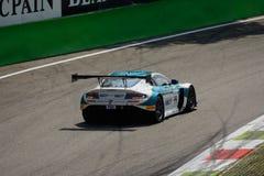 Serie de Blancpain Aston 2015 Martin Vantage en Monza Foto de archivo libre de regalías