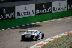 Serie de Blancpain Audi 2015 R8 LMS ultra en Monza Foto de archivo libre de regalías