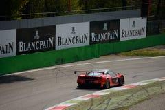 Serie de Blancpain Ferrari 2015 458 Italia en Monza Fotografía de archivo