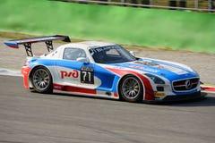 Serie de Blancpain Mercedes 2015 SLS AMG en Monza Imagen de archivo libre de regalías
