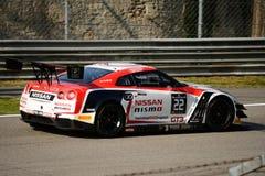 Serie de Blancpain Nissan GT-R 2015 Nismo GT3 en Monza Fotos de archivo libres de regalías