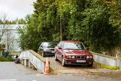 Serie de BMW de los coches, fabricante bávaro alemán Fotografía de archivo