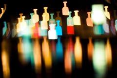 Serie de Bokeh - botellas fotografía de archivo libre de regalías