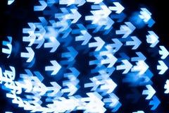 Serie de Bokeh - flechas Imagen de archivo libre de regalías