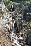 Serie de cascadas en Eagle Cap Wilderness, Oregon, los E.E.U.U. Foto de archivo libre de regalías