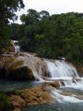 Serie de cascadas en el Agua Azul Fotografía de archivo