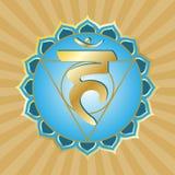 Serie de Chakra: Vishudha Imagen de archivo libre de regalías