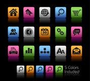 Serie de // Colorbox del Web site y del Internet Imagenes de archivo