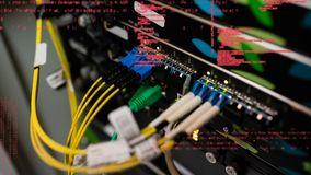 Serie de conexión en placas de circuito almacen de metraje de vídeo
