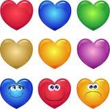 Serie de corazones Imagenes de archivo