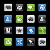 Serie de // Gelbox del Internet y del blog stock de ilustración