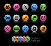 Serie de // Gelcolor del interfaz del Web Foto de archivo