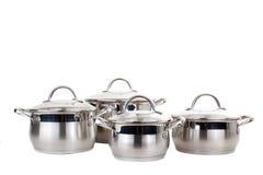 Serie de imágenes de las mercancías de la cocina. Cacerola Foto de archivo libre de regalías
