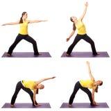 Serie de la actitud de la yoga Fotos de archivo