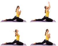 Serie de la actitud de la yoga Imagen de archivo