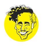 Serie de la caricatura: Mel Brooks ilustración del vector