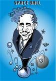 Serie de la caricatura: Mel Brooks stock de ilustración