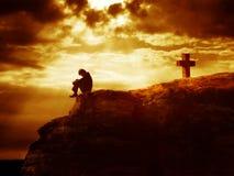 Serie de la cruz de Calvary Imagenes de archivo