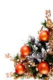 Serie de la decoración de la esquina del ornamento de la Navidad Imágenes de archivo libres de regalías