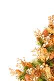 Serie de la decoración de la esquina del ornamento de la Navidad Foto de archivo