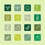 Serie de la etiqueta engomada de los iconos del hospital Foto de archivo libre de regalías