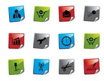 Serie de la etiqueta engomada del icono del Web Imagen de archivo libre de regalías