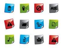 Serie de la etiqueta engomada del icono del Web Fotos de archivo libres de regalías