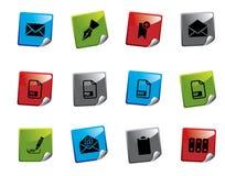 Serie de la etiqueta engomada del icono del Web Imagenes de archivo