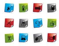 Serie de la etiqueta engomada del icono del Web Fotografía de archivo libre de regalías
