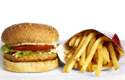 Serie de la hamburguesa Fotos de archivo