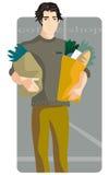 Serie de la ilustración de las compras Imagen de archivo