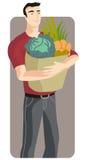 Serie de la ilustración de las compras Fotografía de archivo libre de regalías