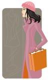 Serie de la ilustración de las compras Foto de archivo libre de regalías