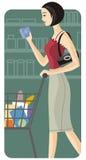 Serie de la ilustración de las compras Imágenes de archivo libres de regalías