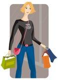 Serie de la ilustración de las compras Fotografía de archivo