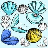 Serie de la ilustración de Seaworld Foto de archivo libre de regalías