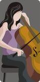 Serie de la ilustración del músico Imagenes de archivo