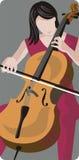 Serie de la ilustración del músico Imagen de archivo libre de regalías