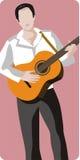 Serie de la ilustración del músico Fotografía de archivo libre de regalías