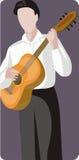 Serie de la ilustración del músico Imagen de archivo