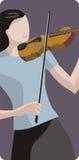 Serie de la ilustración del músico Imágenes de archivo libres de regalías