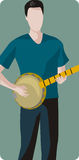 Serie de la ilustración del músico Foto de archivo