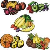 Serie de la ilustración de la fruta Fotos de archivo libres de regalías