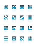 Serie de la insignia del asunto Imagen de archivo libre de regalías