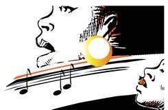 Serie de la música - jazz Fotografía de archivo libre de regalías