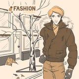 Serie de la moda urbana. Otoño, invierno. ilustración del vector